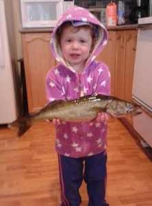 A neighbor's grand daughter caught this pickerel in Lake Cecebe in July.